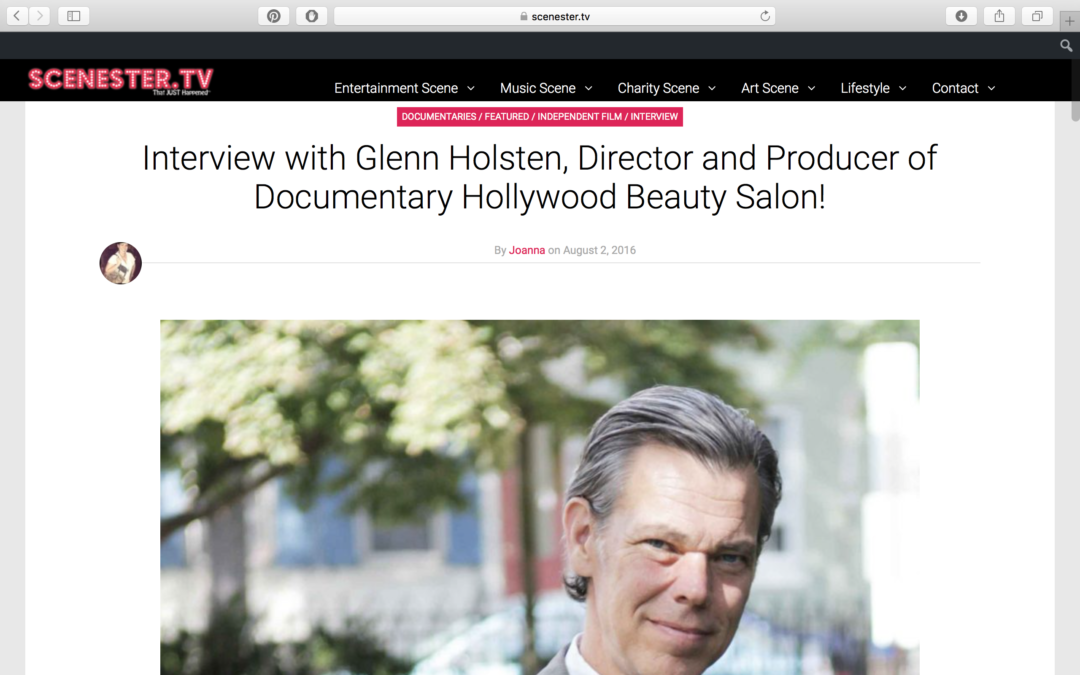 Scenester.tv Interview with Glenn Holsten