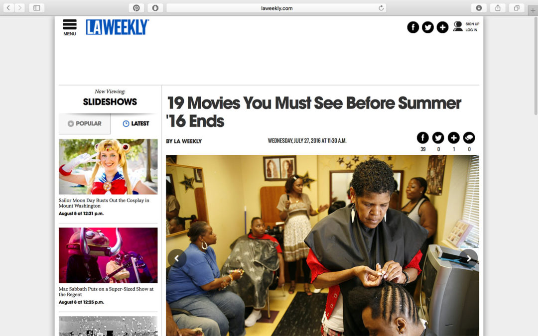 LA Weekly – 19 Films You Must See Before Summer '16 Ends